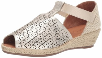Gentle Souls by Kenneth Cole Women's Luci T-Strap 3 Espadrille Wedge Sandal