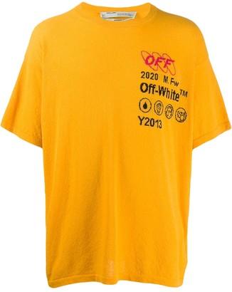Off-White logo textured oversized T-shirt