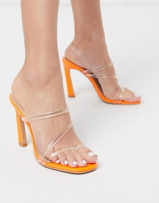 Simmi Shoes Simmi London True clear mules in orange