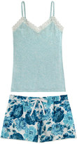 Cath Kidston Peony Blossom Vest and Short Set