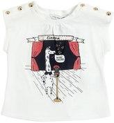 Little Marc Jacobs Giraffe Cotton Blend Jersey T-Shirt