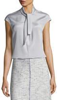 St. John Silk Blouse w/ Detachable Collar
