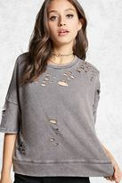 Forever 21 FOREVER 21+ Contemporary Distressed Tee
