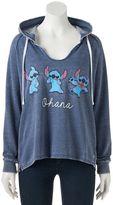 "Disney Disney's Lilo & Stitch Juniors' ""Ohana"" Graphic Hoodie"