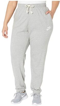 Nike Plus Size NSW Gym Vintage Pants (Black/Sail) Women's Casual Pants