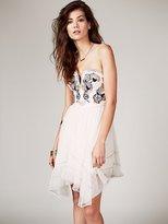 Free People Floral Bodice Mini Dress