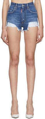 DSQUARED2 Blue Denim Beach Wash Shorts
