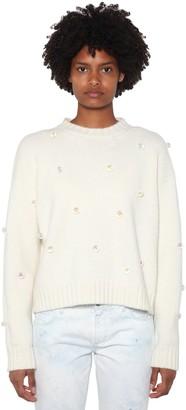 Alanui Embellished Wool & Cashmere Knit Sweater