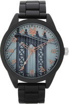 Zoo York Mens Black And Rose Gold Tone Bracelet Watch