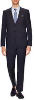 Emporio Armani Wool Striped Notch Lapel Suit