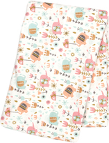 Trend Lab 48'' x 48'' Playful Elephants Flannel Swaddle Blanket