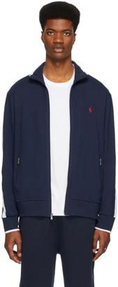 Polo Ralph Lauren Navy Interlock Zip-Up Sweater