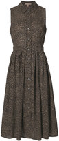 Michael Kors leopard print gathered dress - women - Silk - 6