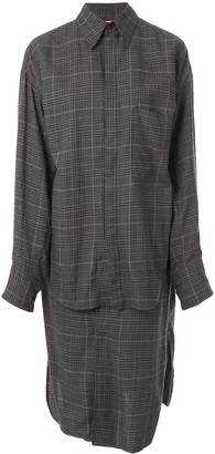 Y's Checked Shirt Dress