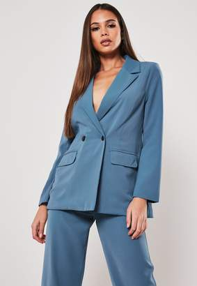 Missguided Petite Blue Co Ord Long Blazer