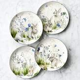 Williams-Sonoma Williams Sonoma Floral Meadow Mixed Salad Plates, Set of 4, Bunny