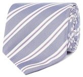 Jeff Banks Designer Blue Twin Striped Slim Silk Tie