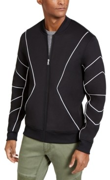 INC International Concepts Inc Men's Piped Zip-Front Knit Jacket, Created for Macy's