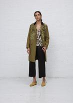 Dries Van Noten kaki rolt embellished jacket