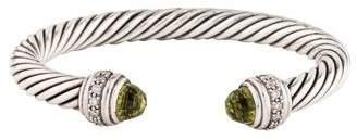 David Yurman Quartz & Diamond Cable Classics Bracelet