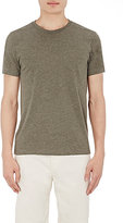 Barneys New York MEN'S MÉLANGE JERSEY CREWNECK T-SHIRT-DARK GREEN SIZE S