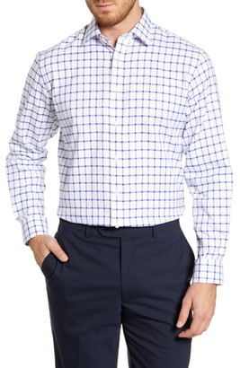 Nordstrom Traditional Fit Windowpane Dress Shirt