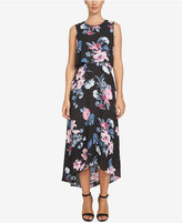CeCe Floral-Print High-Low Maxi Dress