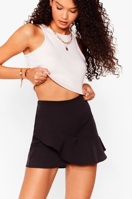 Nasty Gal Womens For the Frill of It High-Waisted Ruffle Shorts - Black