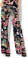 New York & Co. 7th Avenue Pant - Palazzo - Tropical Print