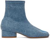 Maison Margiela Blue Denim Low Heel Tabi Boots