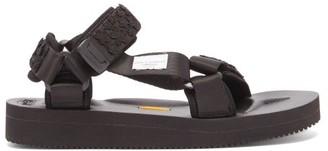 Cecilie Bahnsen X Suicoke Maria Floral Velcro-strap Sandals - Black