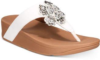 FitFlop Lottie Corsage Thong Sandals Women Shoes