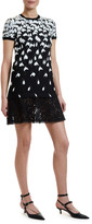 Valentino Short-Sleeve Jersey Dress
