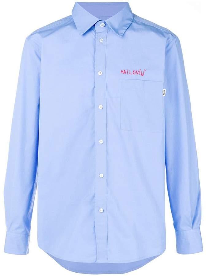 MSGM stitch detail shirt