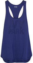 Ivy Park Perforated Stretch-jersey Tank - Navy