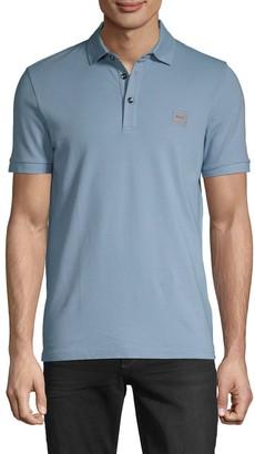 HUGO BOSS Slim-Fit Logo Patch Stretch-Cotton Polo