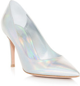 Gianvito Rossi Hologram point-toe shoes