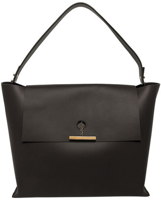 Sophie Hulme BG292LE The Pinch Top Handle Flap Over Shoulder Bag