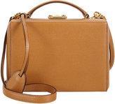 Mark Cross Women's Small Grace Trunk Bag-TAN