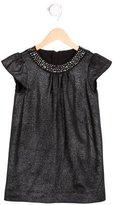 Milly Minis Girls' Jewel-Embellished Metallic Dress