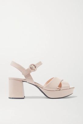 Prada 65 Patent-leather Platform Sandals - IT34.5