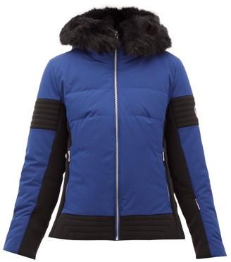 Fusalp Gardena Iii Faux-fur-trimmed Ski Jacket - Navy