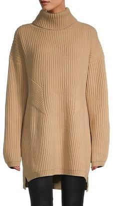 Thakoon Chunky Geelong Lambswool Turtleneck Sweater