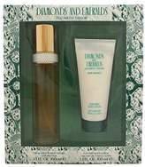 Elizabeth Taylor Diamonds & Emeralds By For Women. Set-EDT Spray 3.3 Ounces & Body Lotion 3.3 Ounces