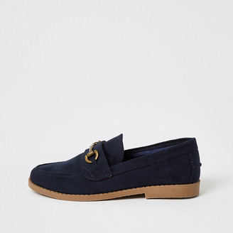 River Island Boys navy loafer
