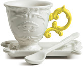 Seletti I-Wares Porcelain Coffee Set - Yellow