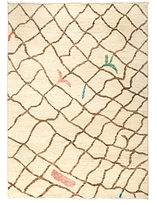 Solo Rugs Moroccan Area Rug - Brown Net, 5' x 7'