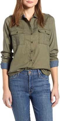 Lucky Brand Laura Collared Utility Shirt