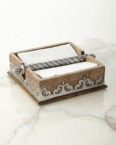 GG Collection G G Collection Wood & Metal Napkin Holder