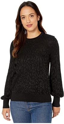 Lauren Ralph Lauren Petite Long Sleeve Sweater (Polo Black) Women's Clothing